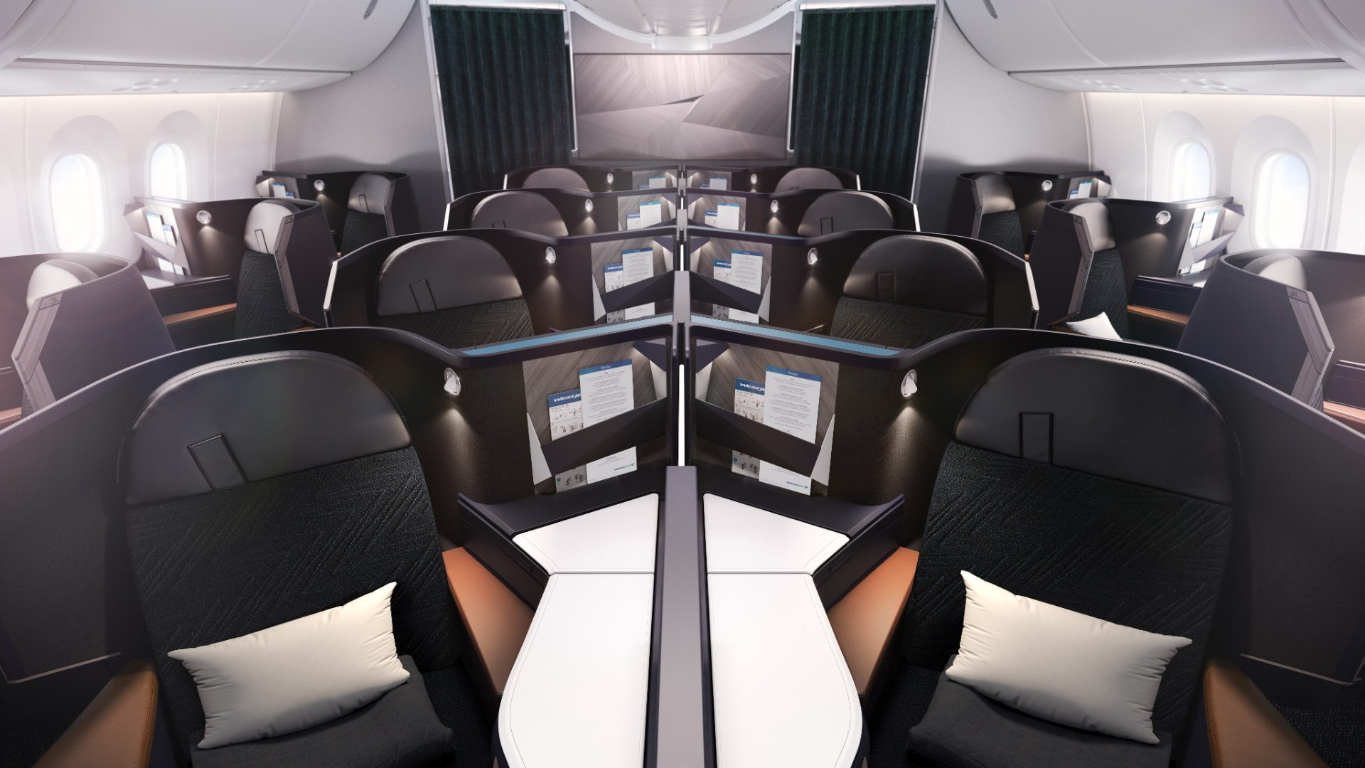 TAKING CARE OF BUSINESS. Meet WestJet's first-ever Business Cabin on board its new 787-9 Dreamliner.