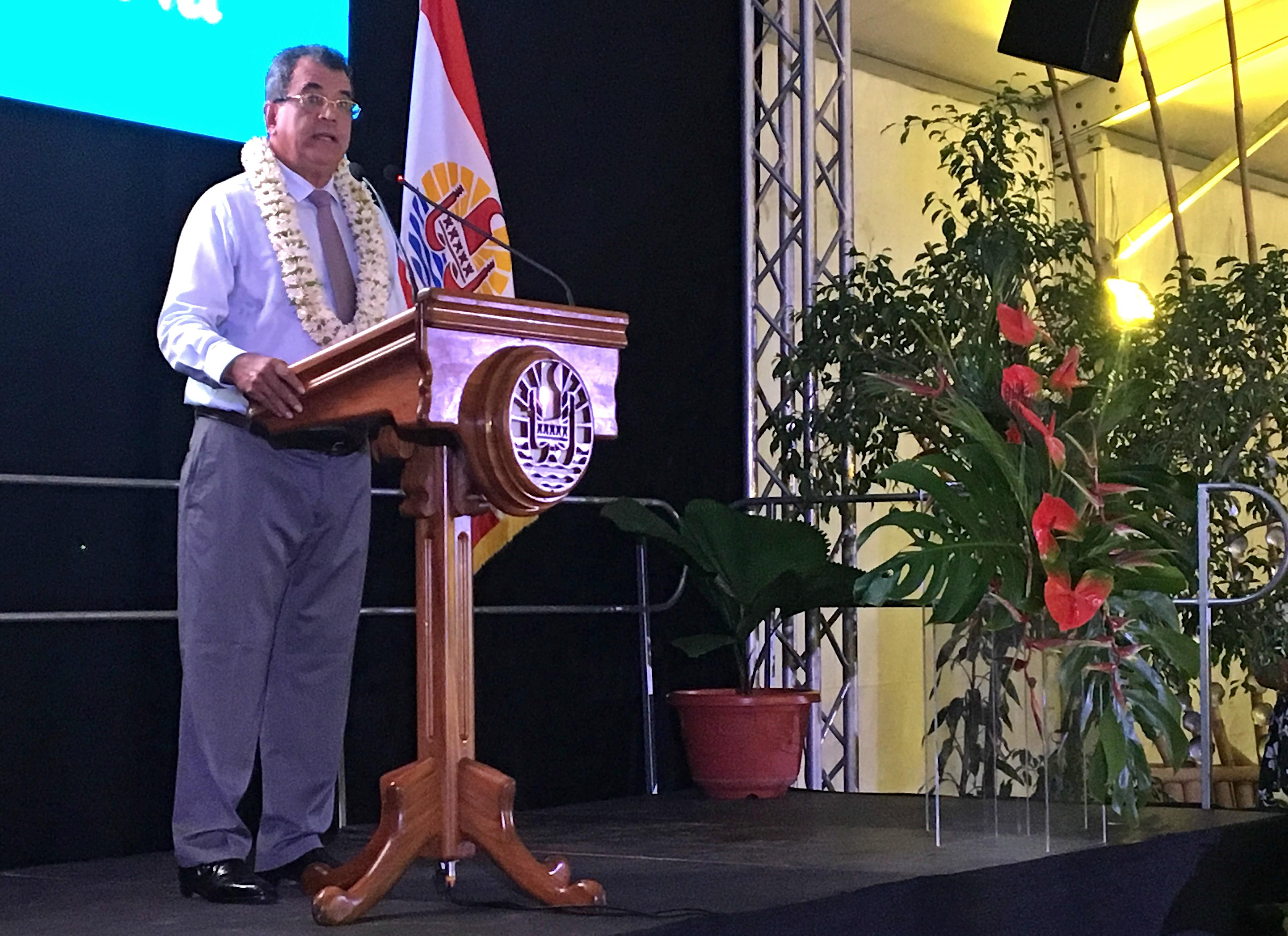 Tahitian President Edouard Fritch.