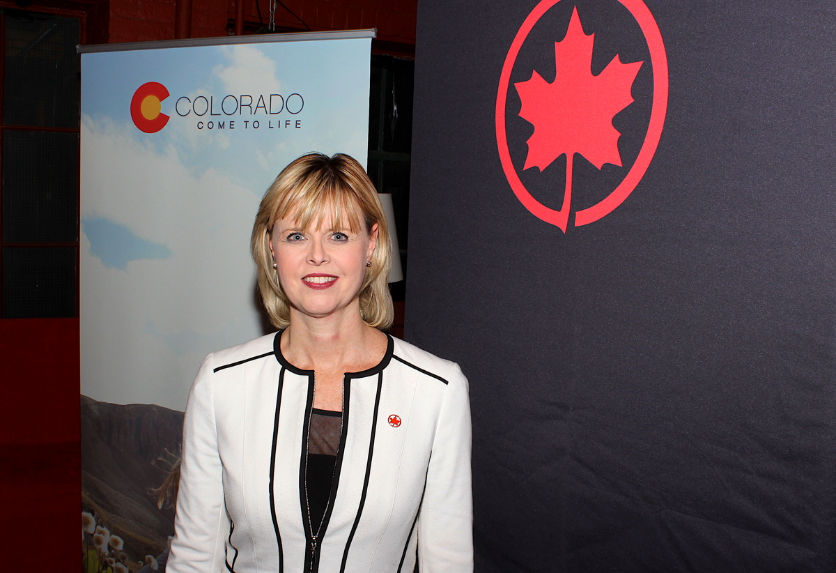 Air Canada's Jennifer Backus reports that Canadian arrivals into Denver International Airport were up 25% last year.