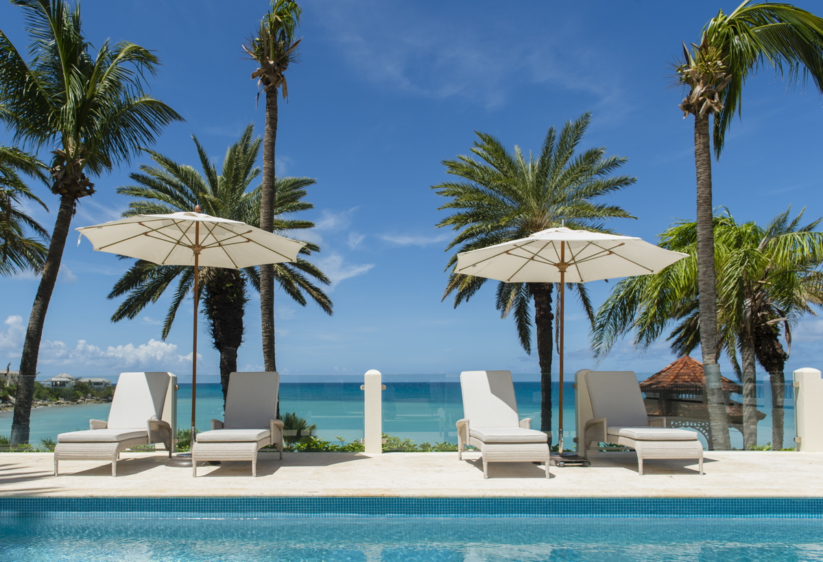 YOU COULD BE SITTING HERE. The adult pool at Antigua's Blue Waters Resort and Spa, where top selling agents will stay.