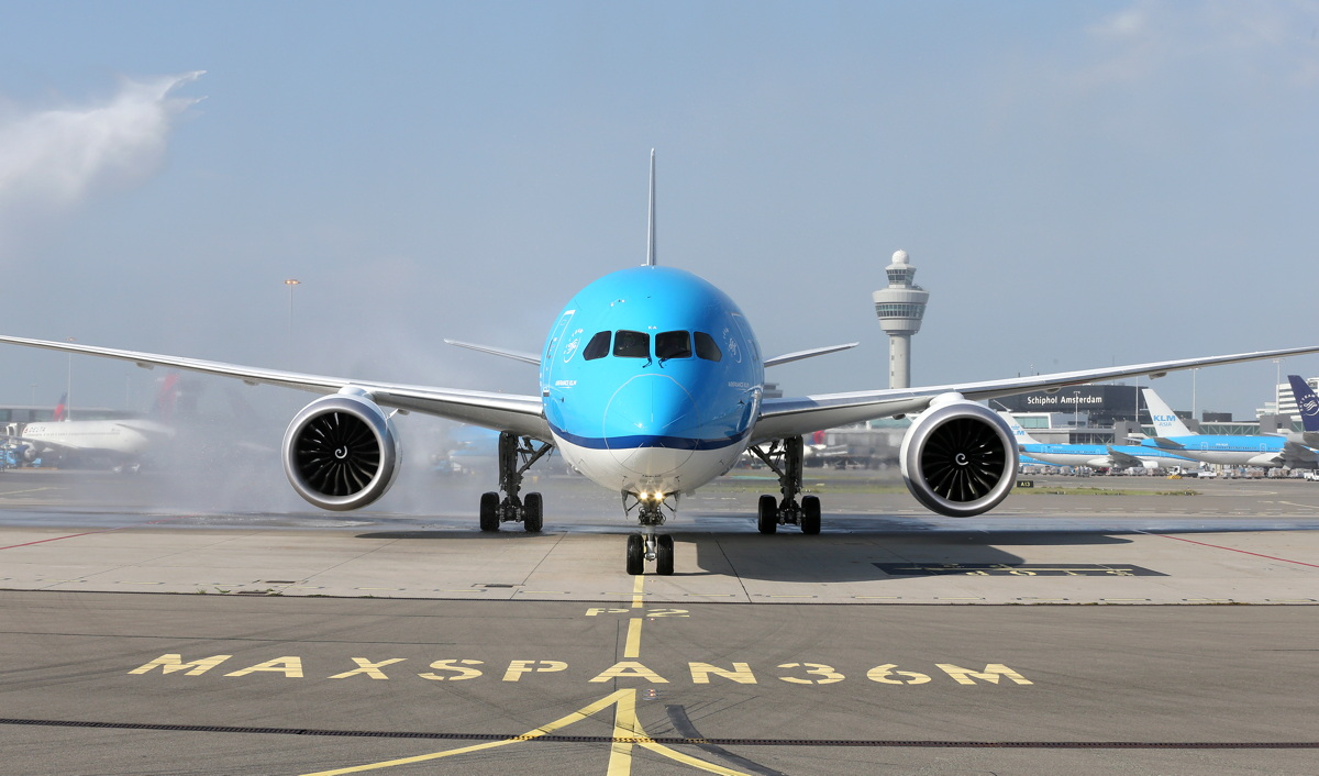 The 344-seat, WiFi-enabled Boeing 787-10 Dreamliner is named 'Oranjebloesem,