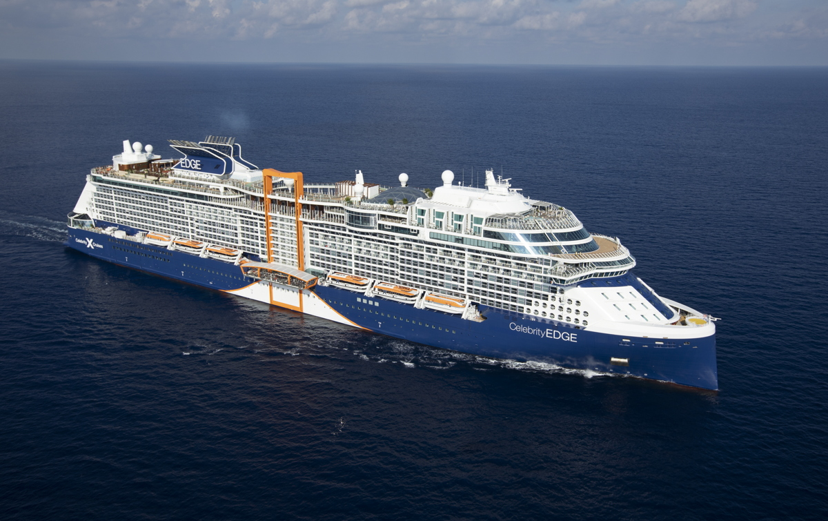 NEW ERA. Celebrity Edge is the first of five revolutionary ships in Celebrity's new Edge Class series. Photo: Celebrity Cruises