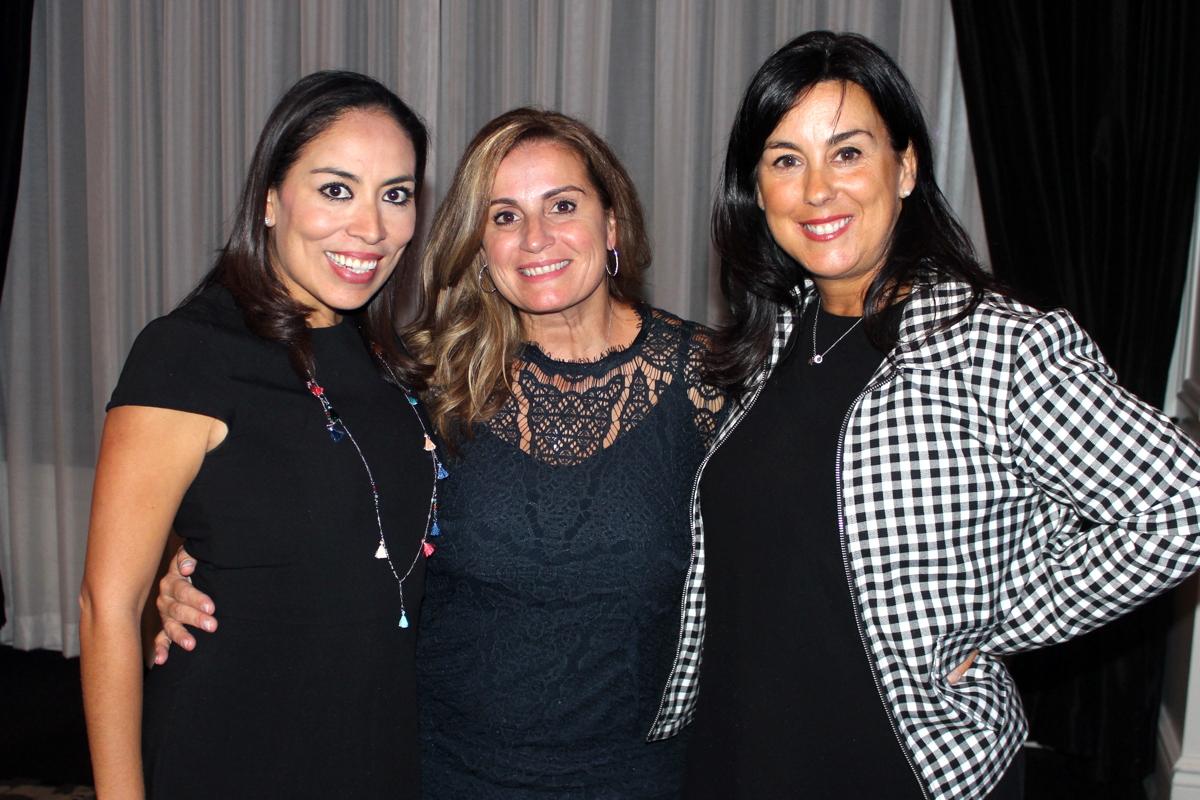 From left: Tania Humana, Velas Resorts; Barbara Scrocco, TravelOnly; Sophie Raymond, Velas Resorts.