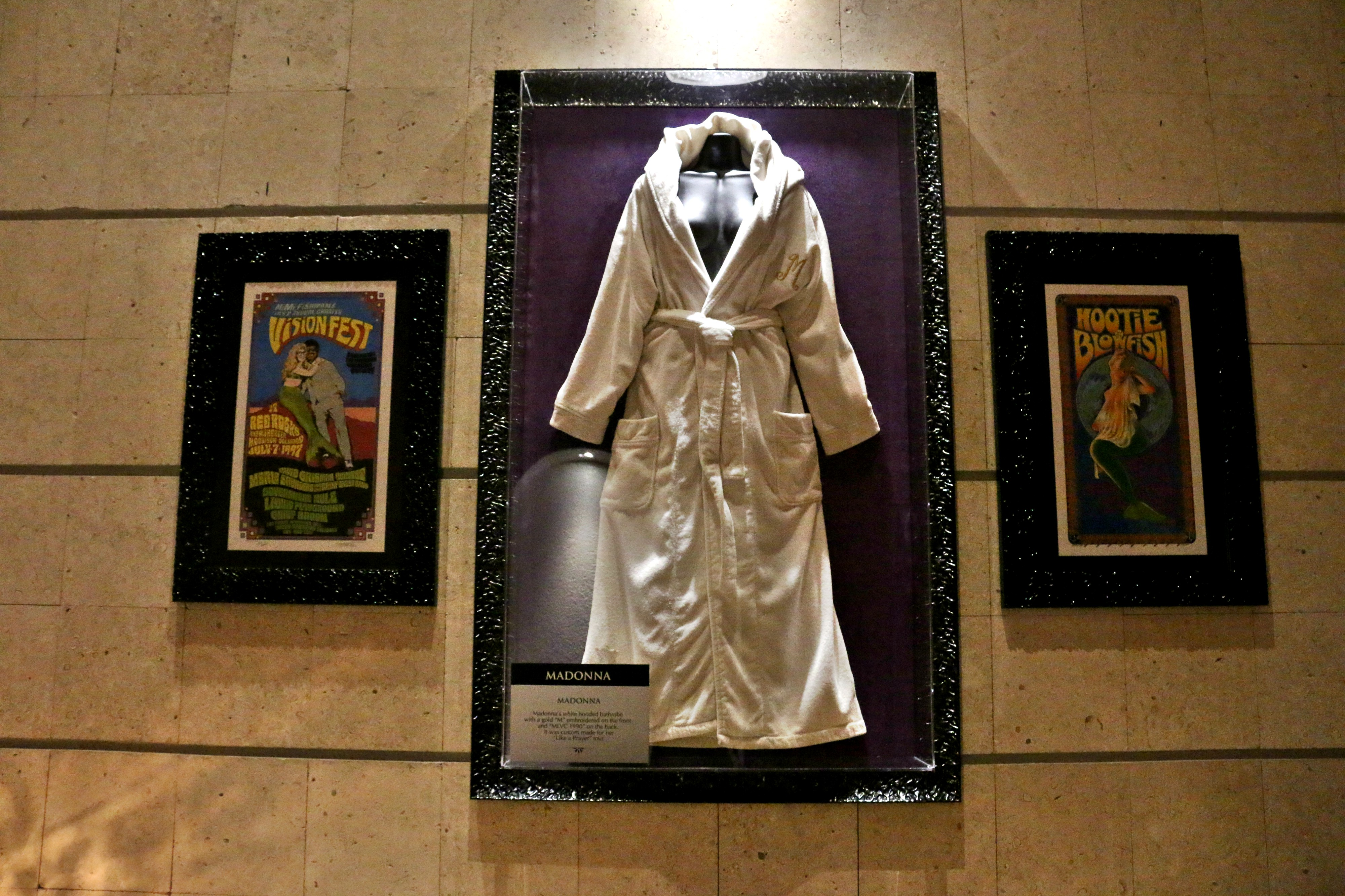 Madonna's custom-made bathrobe that she wore on  her