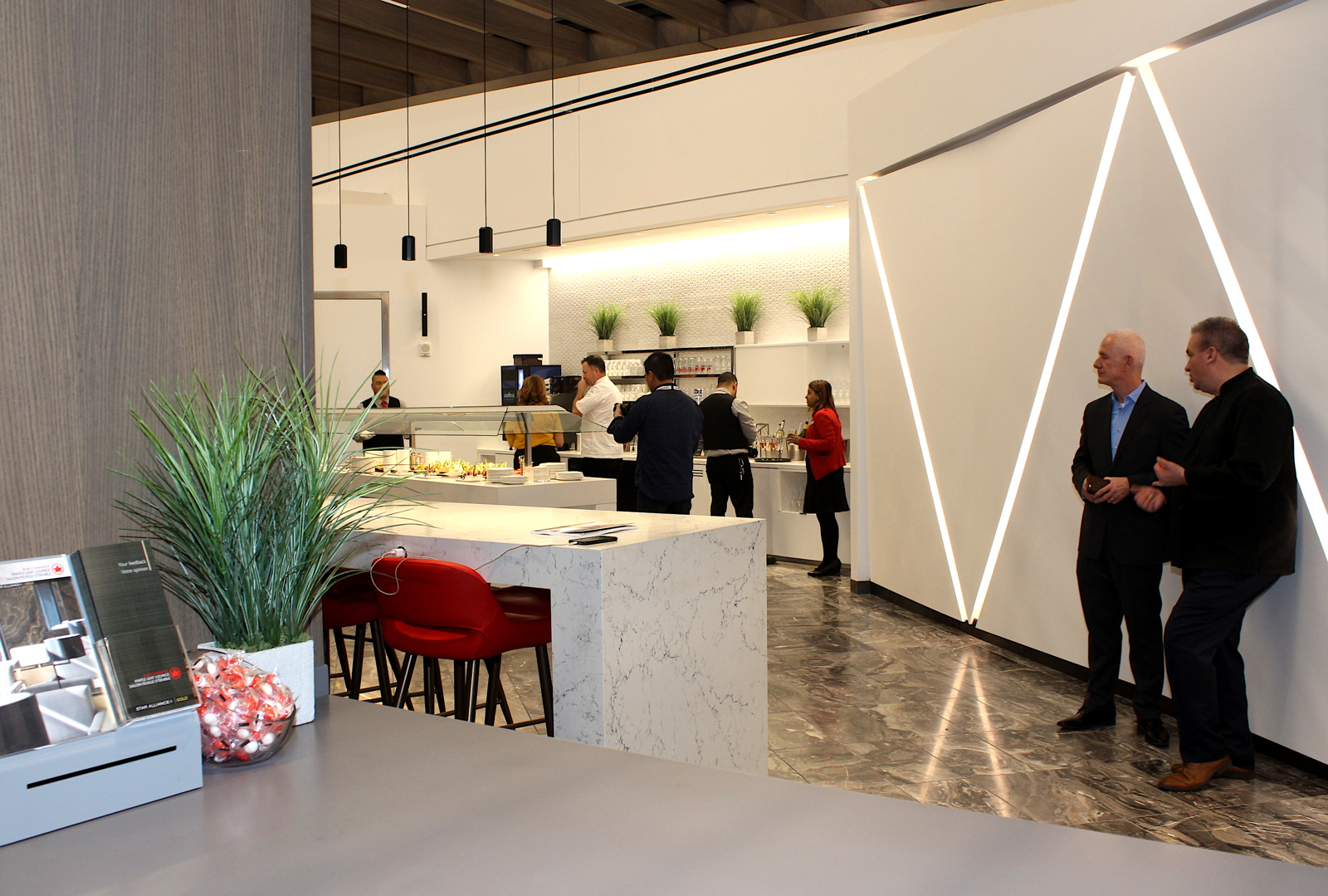 The new lounge is the third Maple Leaf Lounge Air Canada is operating in the U.S.
