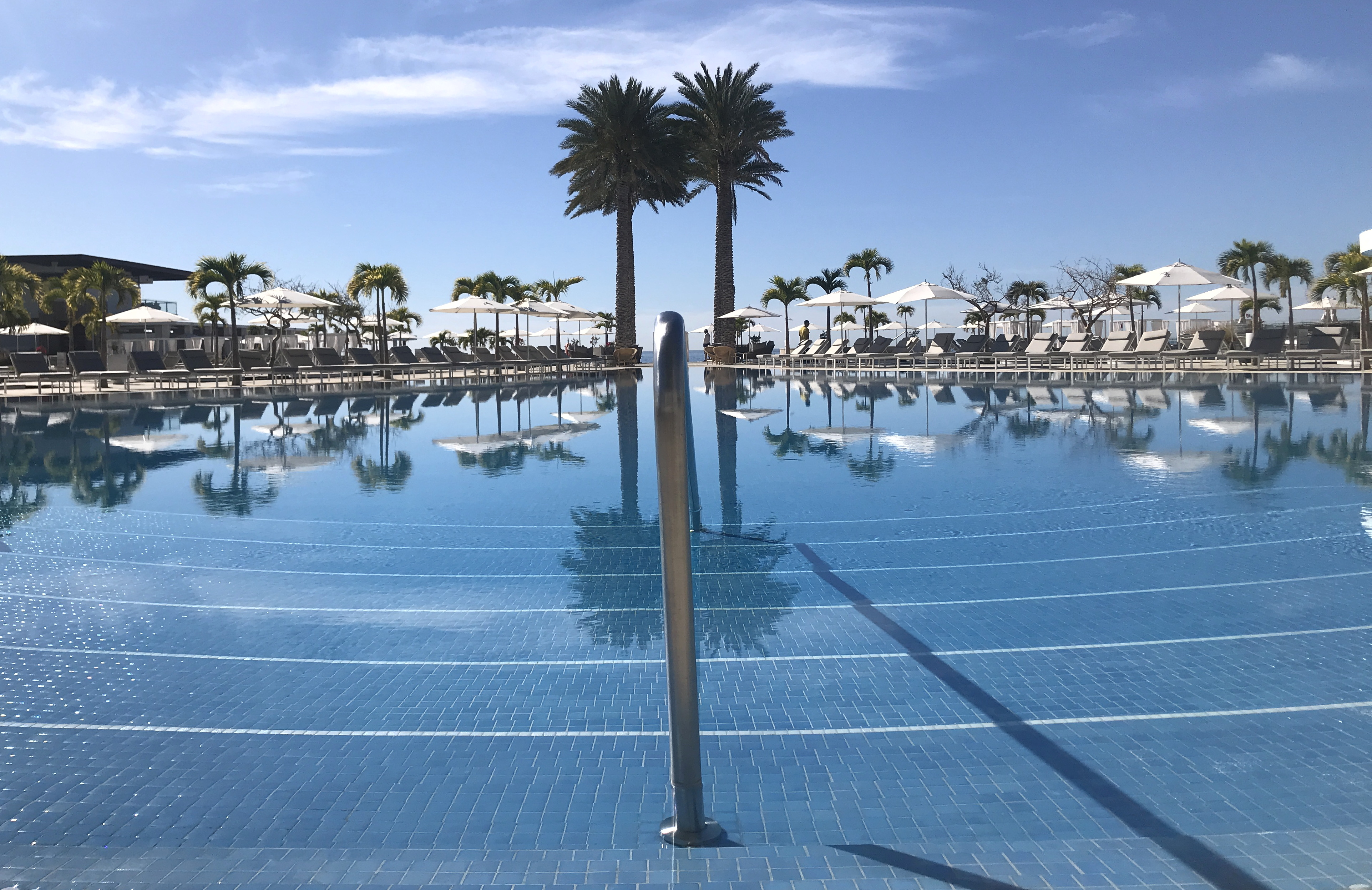 """Poolside at Le Blanc Spa and Resort. Diana Winters said the property is """"romance and luxury, personified."""""""