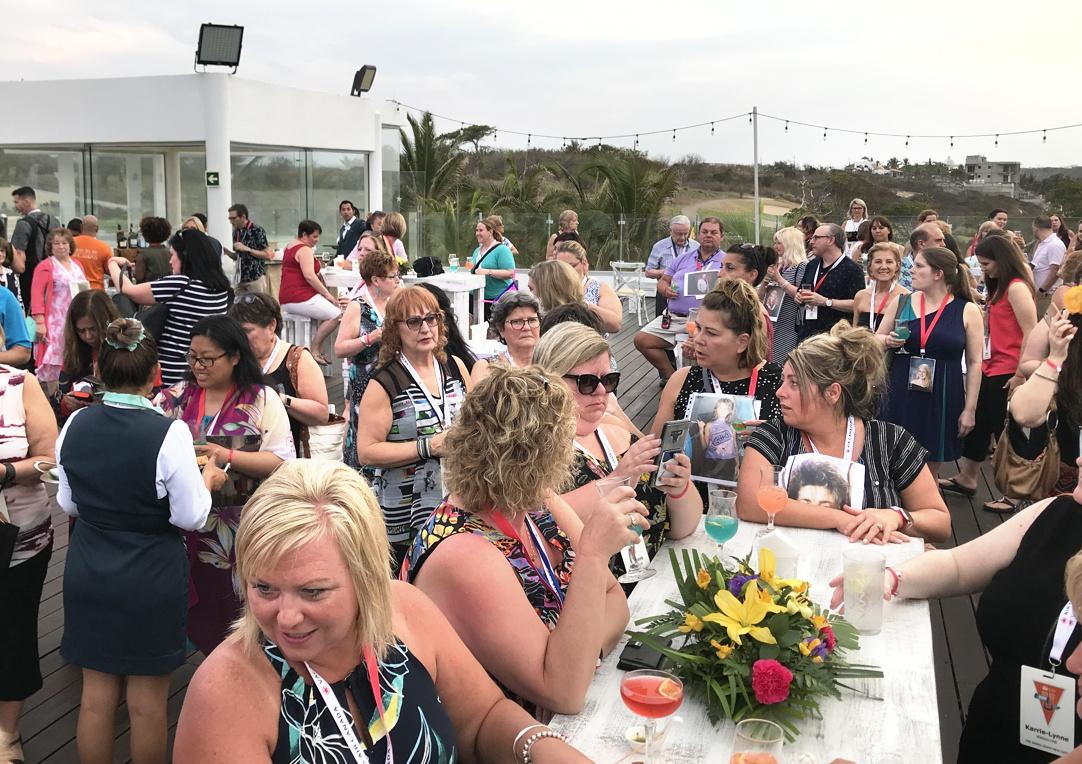 Attendees gather at the Iberostar Selection Playa Mita resort in Riviera Nayarit, Mexico.