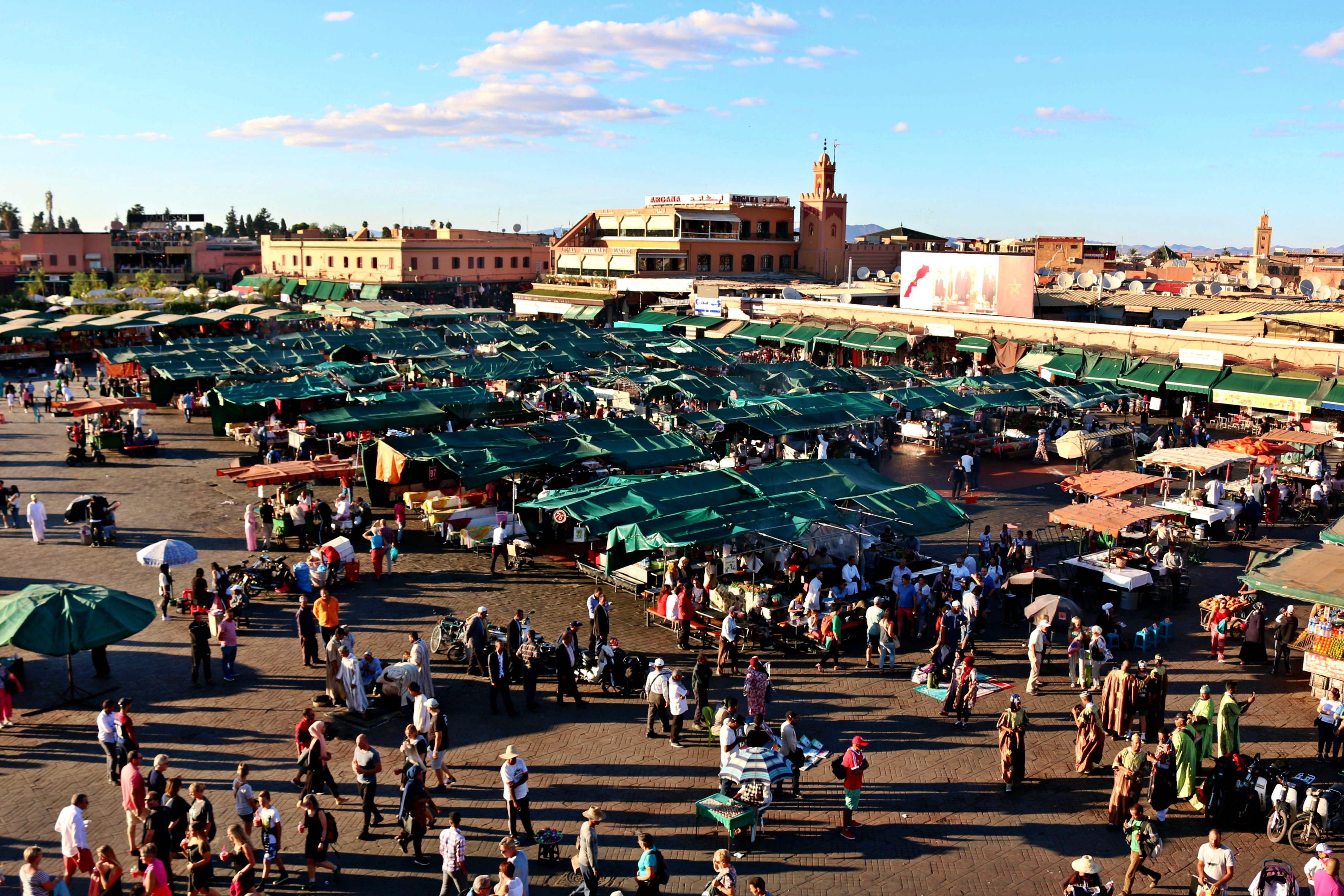 Place Jemaa el-fna is busy, day and night. Photo: Christine Hogg for PAX Global Media