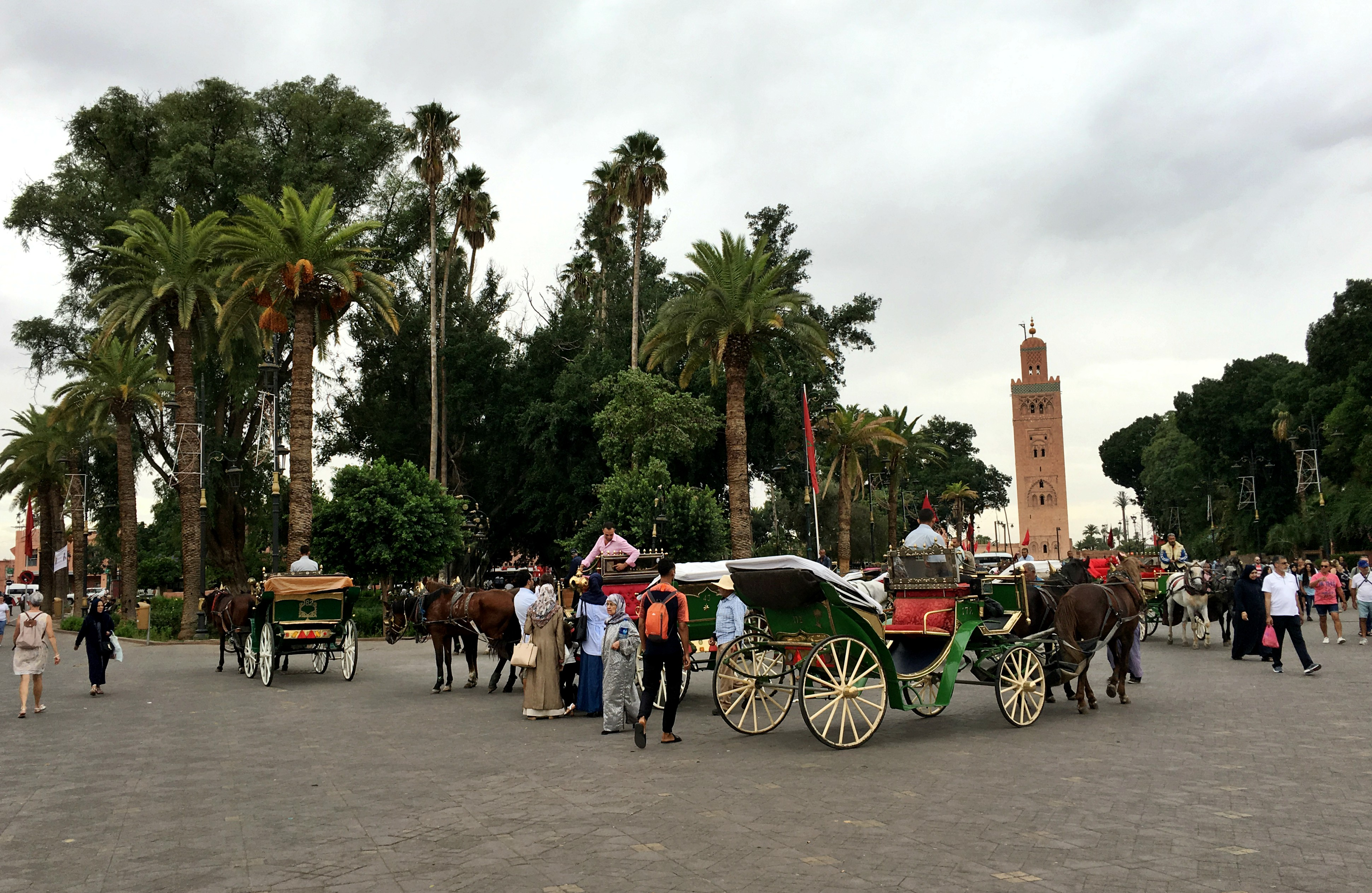 The Koutoubia Mosque seen in Place Jemaa el-Fnaa. Photo: Christine Hogg for PAX Global Media