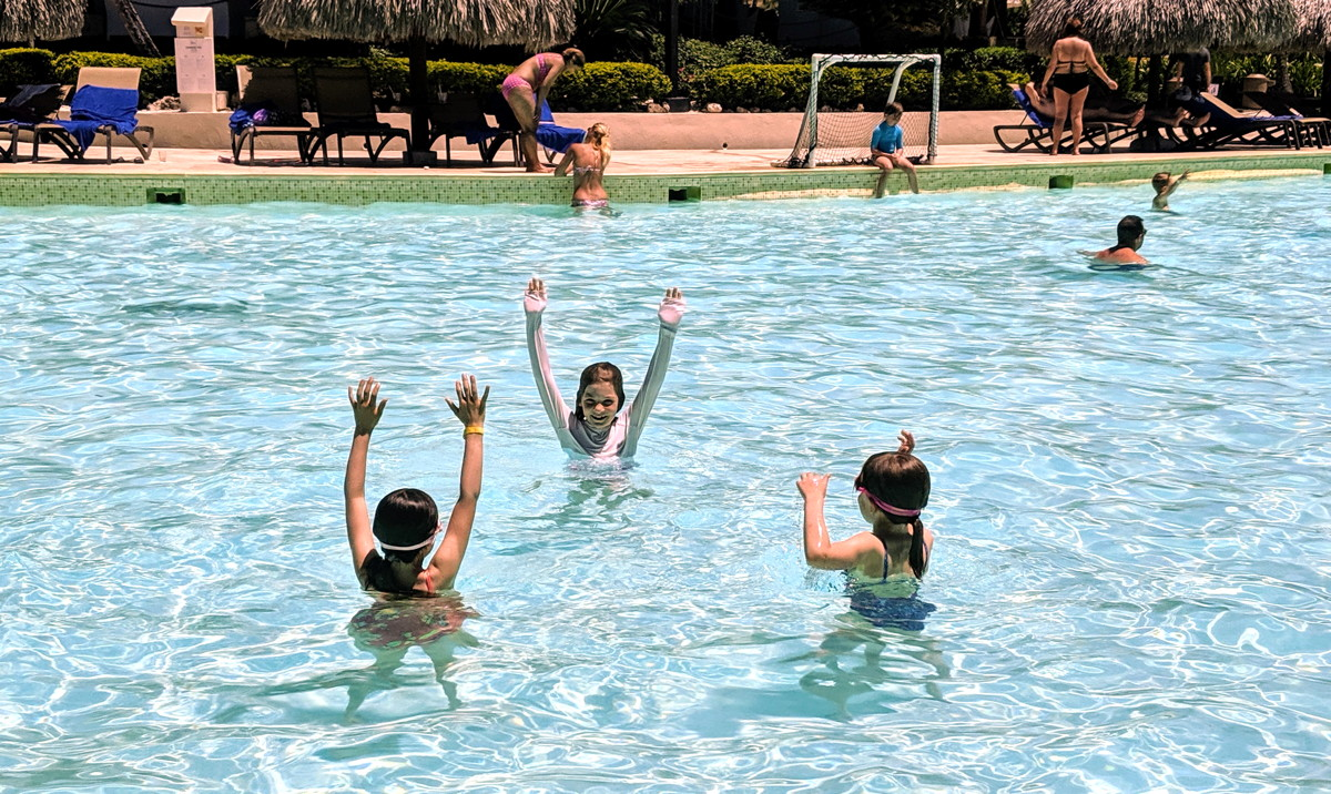HANDS UP. The swimming pool at Club Med Punta Cana was a hit.