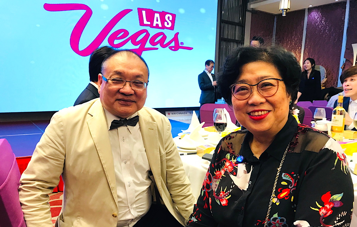Husband and wife team, M.K. and Marian Lam of Vancouver-based JBC Travel Canada.