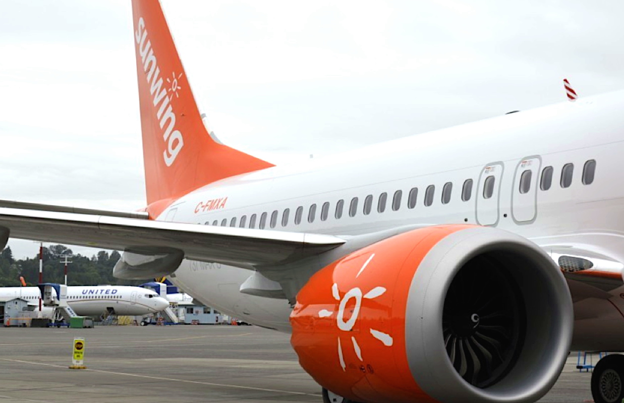 Sunwing says it will temporarily ground its Boeing 737 MAX 8 airplanes.