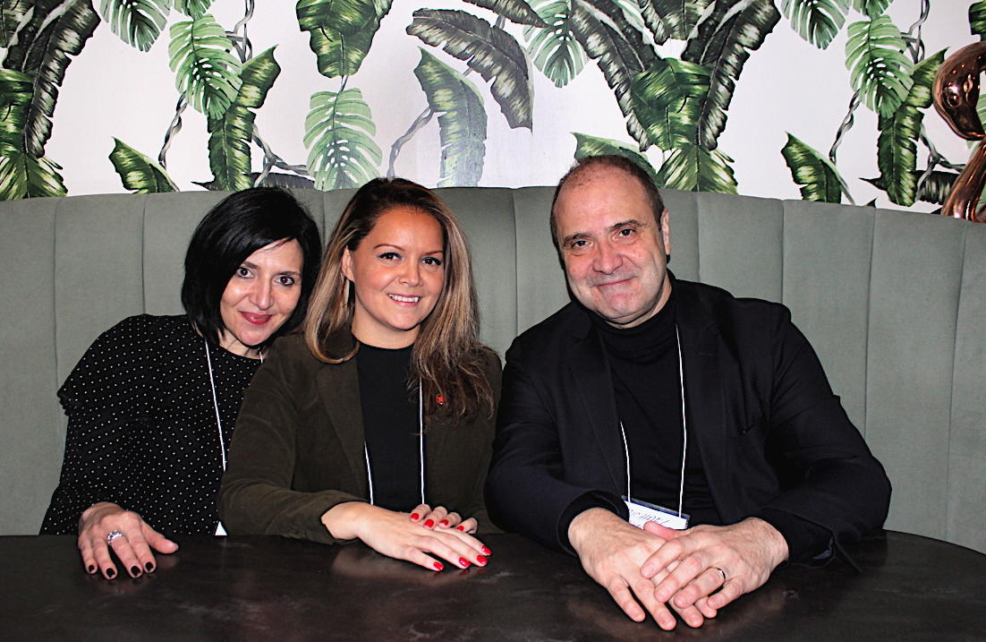 TABLE FOR THREE. Air Canada's Natasha Delicata (left), Simona Cercel and Michael DeGrace spotted at Planta last night at Travel Oregon's media event.