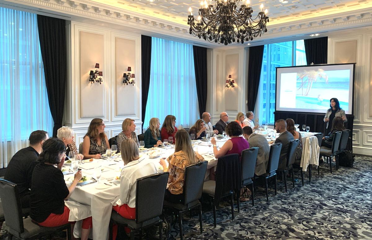 WestJet and Velas Resorts hosted top travel advisors for dinner last week at Toronto's St. Regis Hotel.