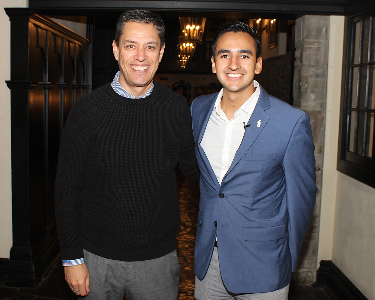 TEAMWORK. Carlos Eguiarte (left) of the Riviera Nayarit Visitors and Conventions Bureau with Jorge Rodriguez of the Puerto Vallarta Tourism Board in Toronto.