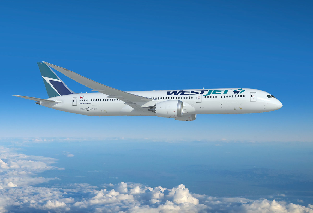 WestJet will add 10 new B787-9 Dreamliners in the next few years