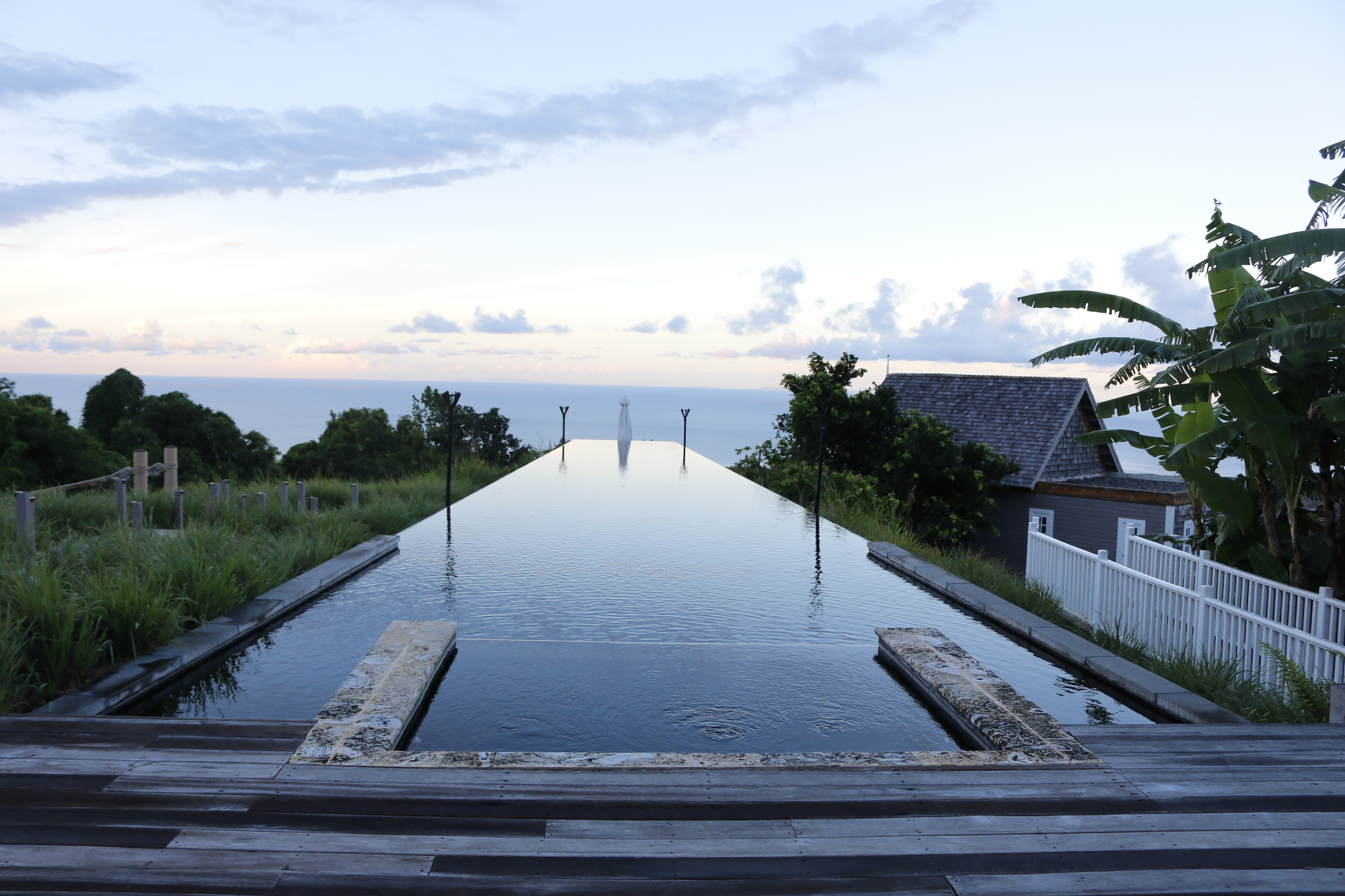 The infinity pool at The Farm House.