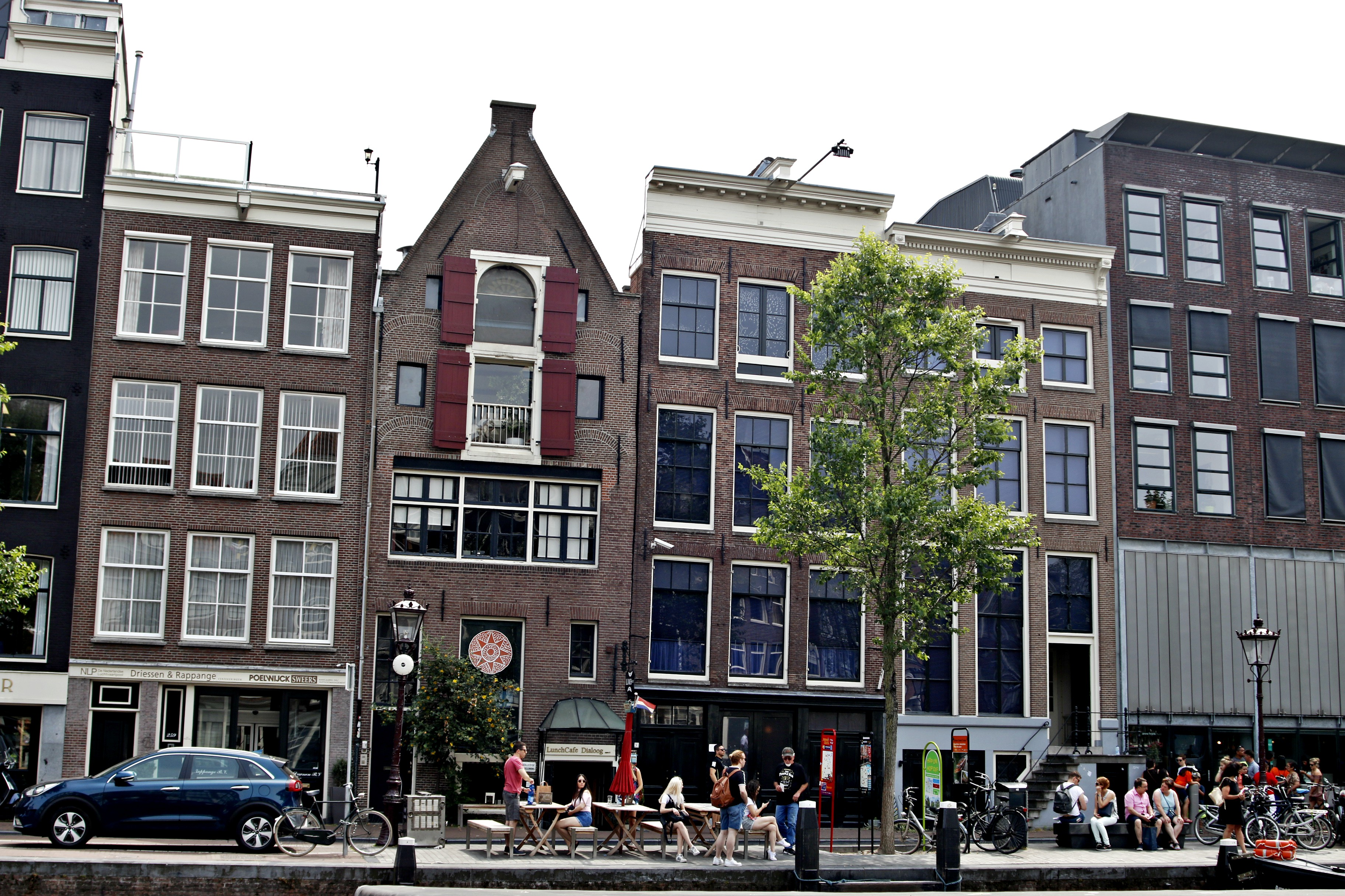 The Anne Frank House, third from the left.