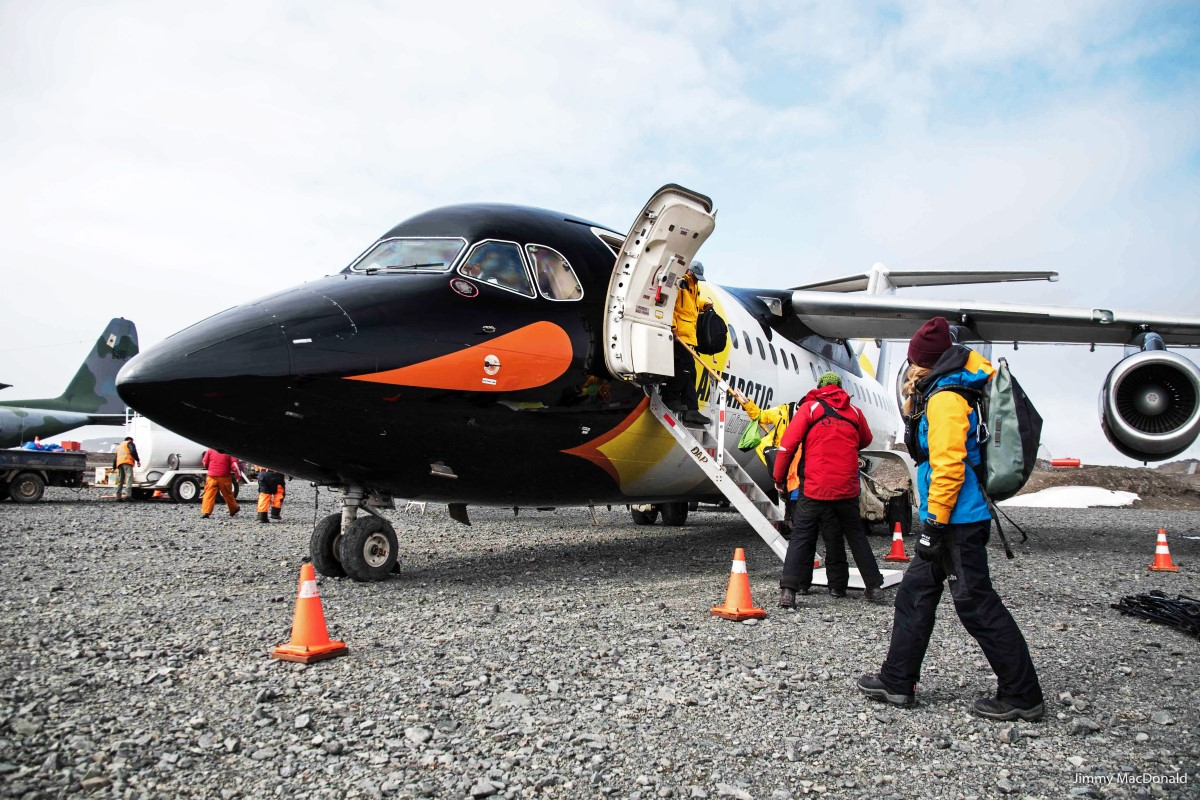 Quark's Fly Cruise program in Antarctica allows travellers to cross the Drake Passage by plane (photo credit: partnerphotos@quarkexpeditions.com)