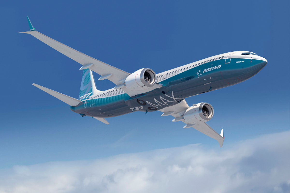 A rendering of Boeing's 737 MAX 8 aircraft, which is operated by Air Canada, WestJet and Sunwing. Photo: Boeing