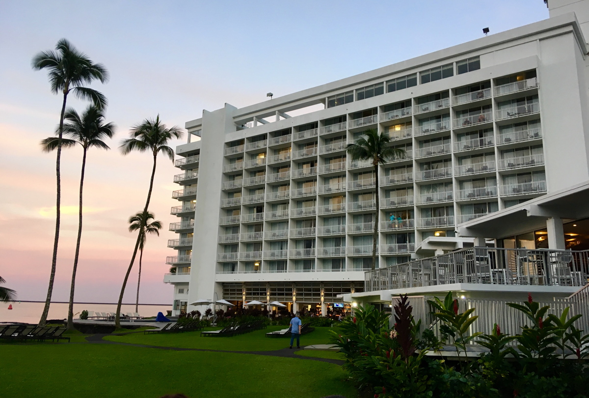 A bayside view of the Grand Naniloa Hotel in Hilo, Big Island, Hawai'i. Photo: Gordon Bowness