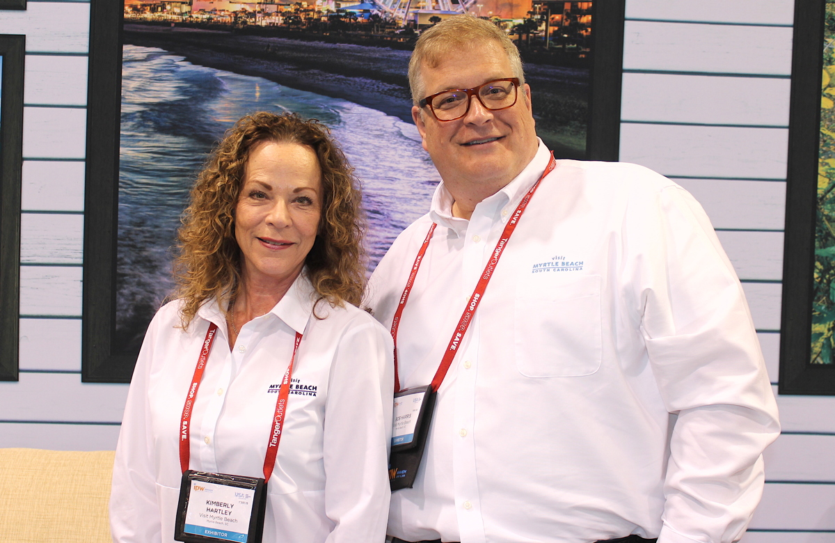 From left: Kimberly Hartley, Canadian account manager & representative for the Myrtle Beach Area Convention and Visitors Bureau; Bob Harris, EVP of sales at Myrtle Beach Area Chamber of Commerce