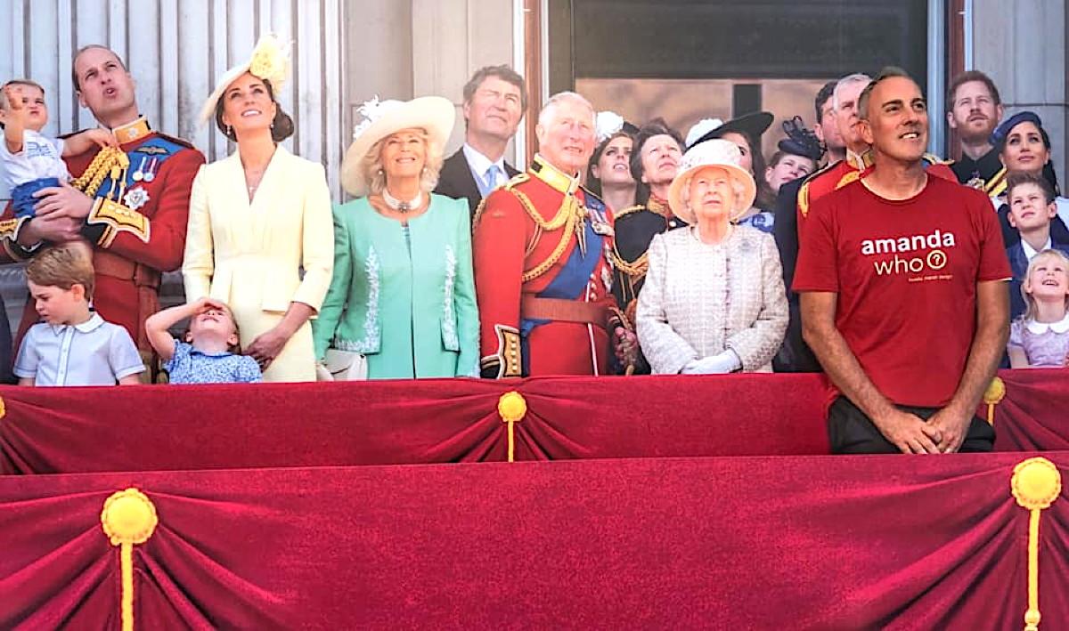 ROYALLY FUN. Freddie Marsh had a royal encounter while wearing his amanda who? t-shirt.