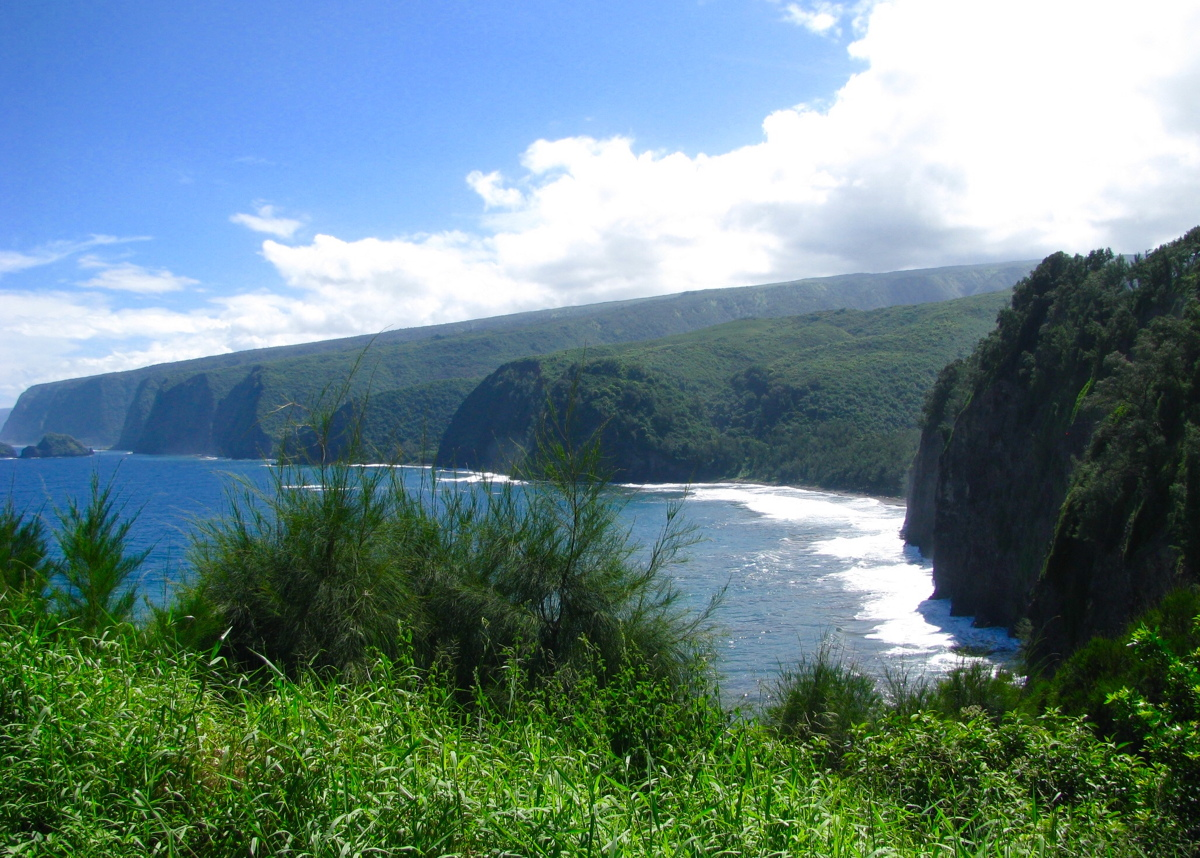 Looking down at Pololu Valley on the Kohala Coast. Photo: Gordon Bowness