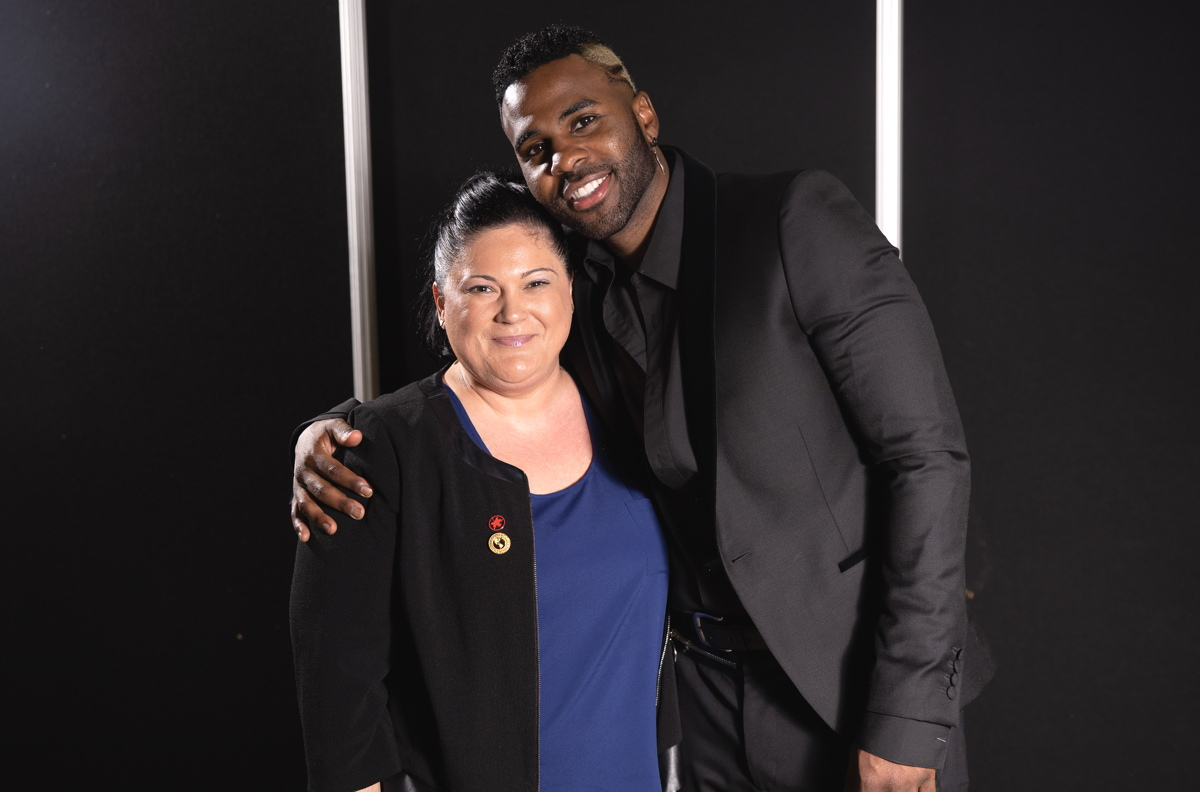 "BACKSTAGE PASS. ACV's Nancy Jeronimo said pop star Jason Derulo was ""super sweet."