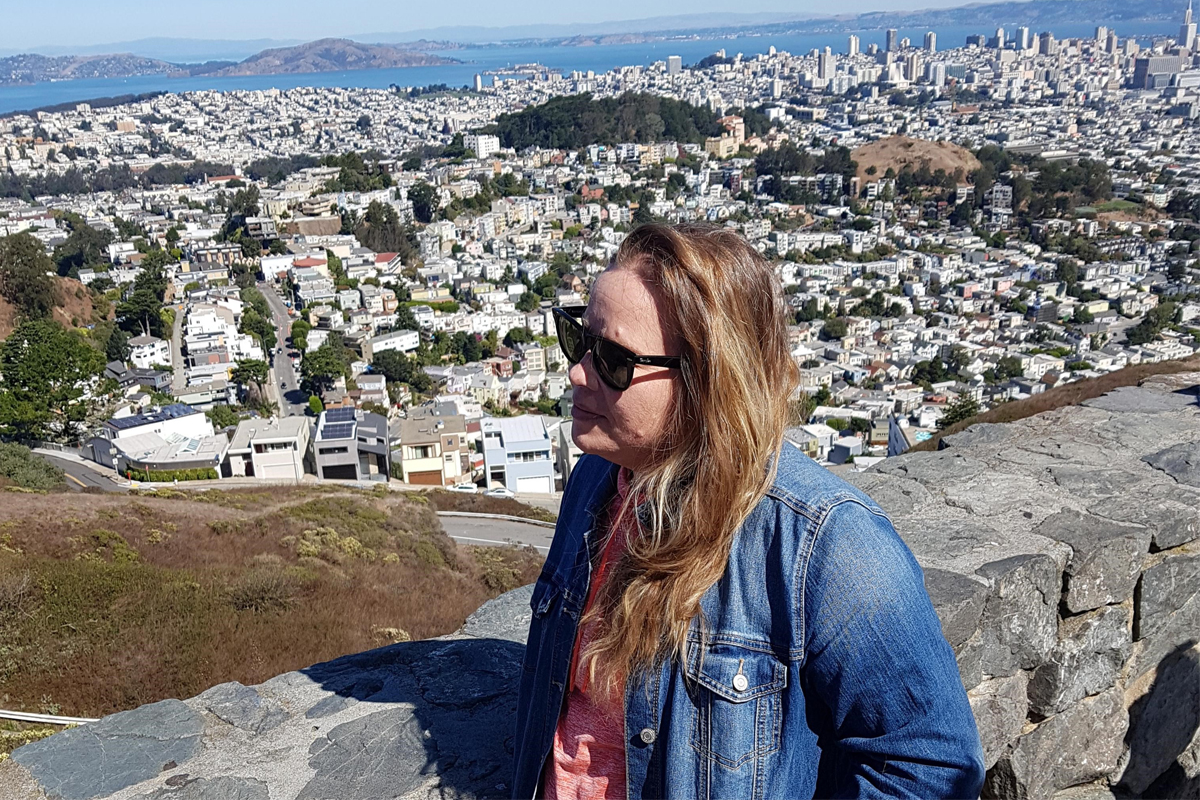 Checking out the views in San Francisco. Photo: Shannon Smith
