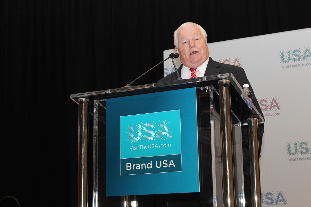 """IPW is only a few days long, but its impact on the region's economy will be felt for years to come,"" said Roger Dow, president and CEO of the U.S. Travel Association, seen here at IPW 2017 in Washington D.C."