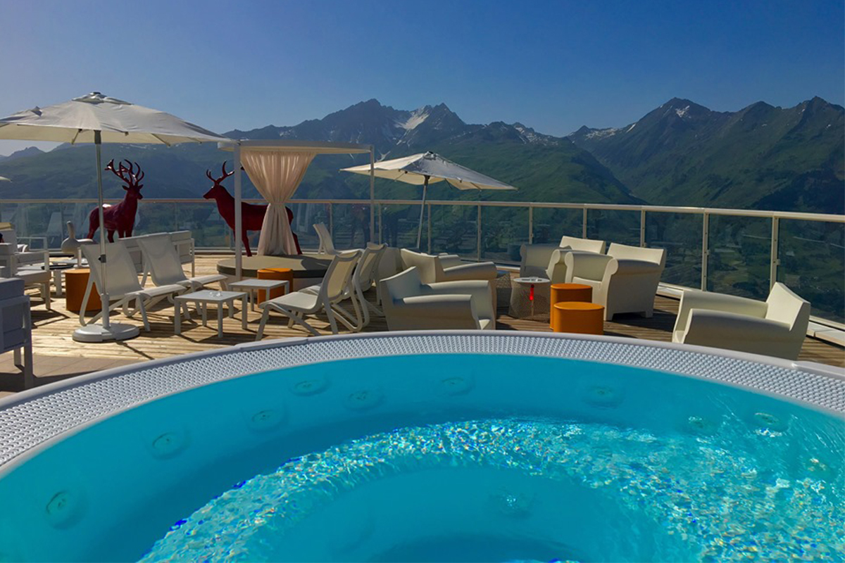 The terrace at Espace Exclusive Le Belvedere Collection