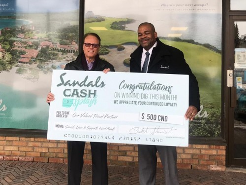 Sandals Cash Splash names another winner
