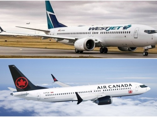 Air Canada & WestJet remove 737 MAX from schedules through June